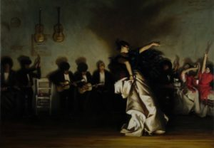 Painting of dancing