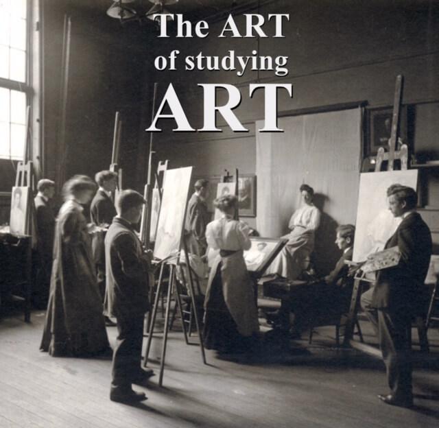 Studying art advertisement